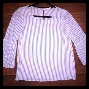 Striped Zara bell sleeve top